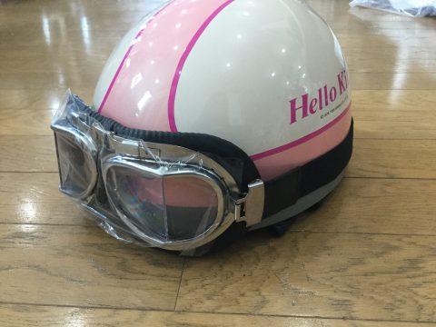 サンリオ ハローキティデザインのヘルメット